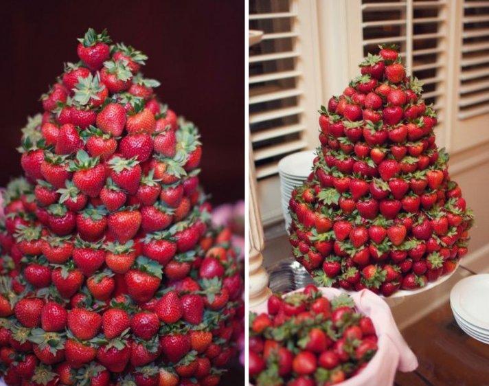 unique wedding cakes non cake reception desserts strawberries