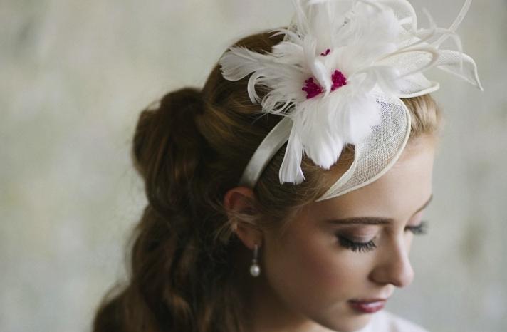 pink and pretty bridal headpiece wedding headband