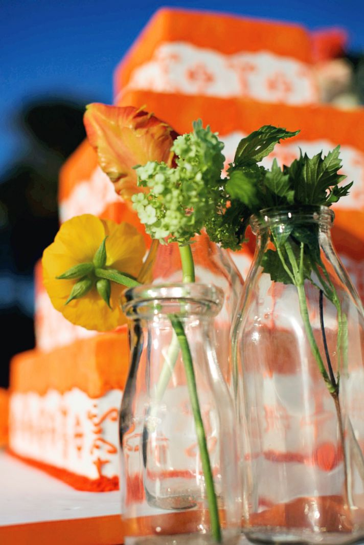 Rustic Wedding With A Tangerine Twist