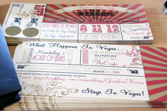 unique wedding invitations RSVP card vintage carnival