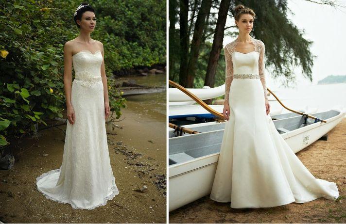 beach bride wedding dresses Augusta Jones bridal gowns lace 2
