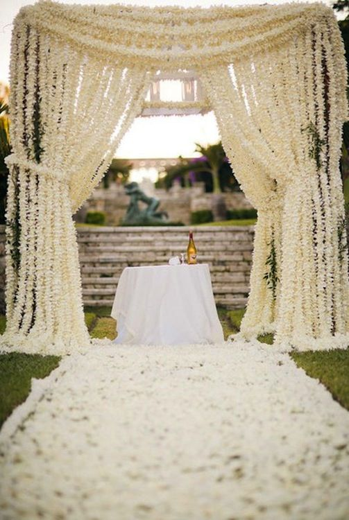 blog wedding ceremony backdrop ideas