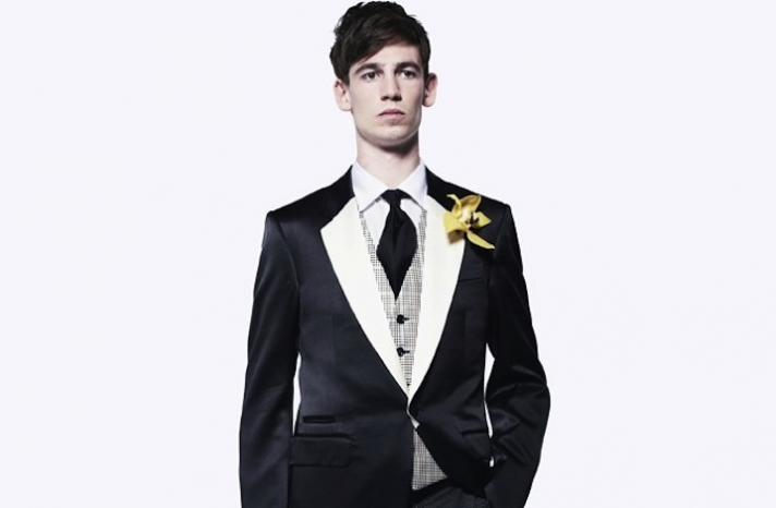 alexander mcqueen black tie wedding inspiration for groom