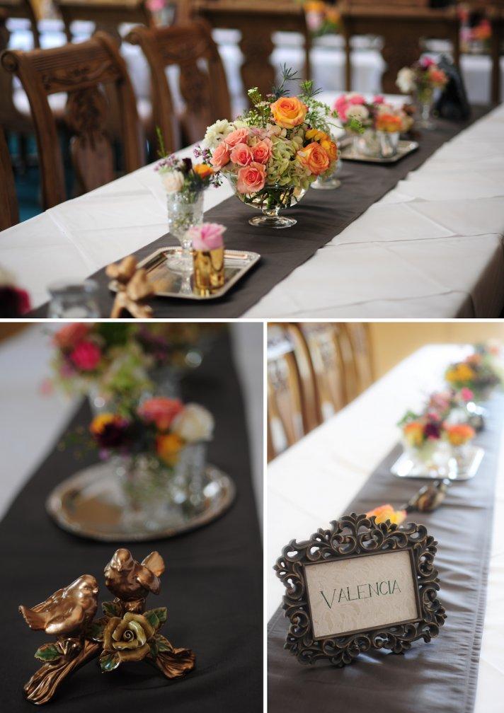 elegant real wedding North Carolina simple centerpieces romantic