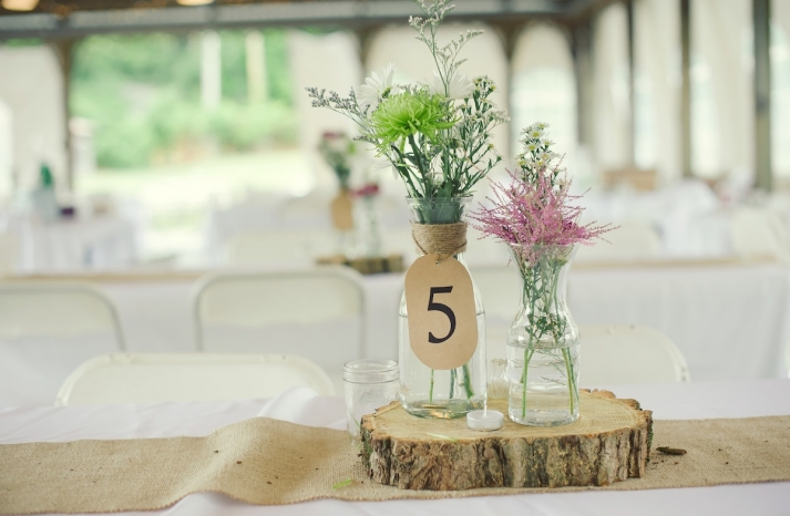 elegant rustic wedding real wedding photos simple centerpieces 1