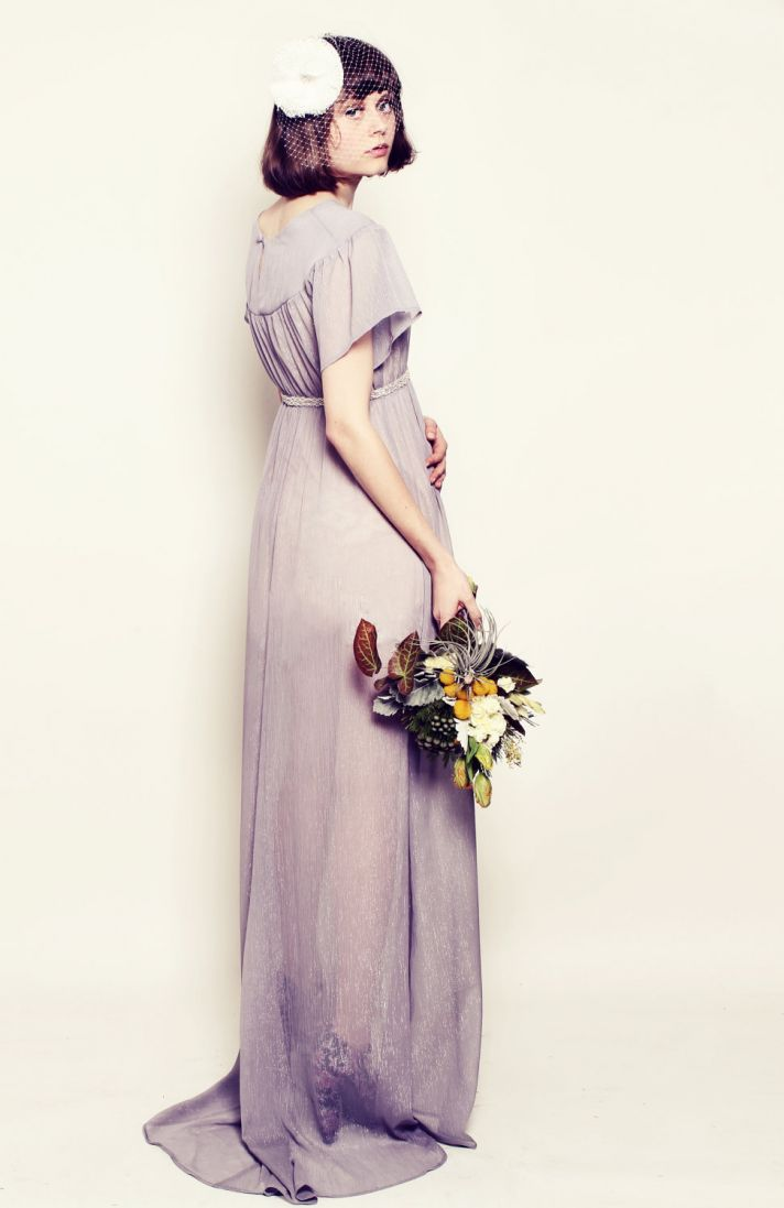 lilac bridesmaid dress long