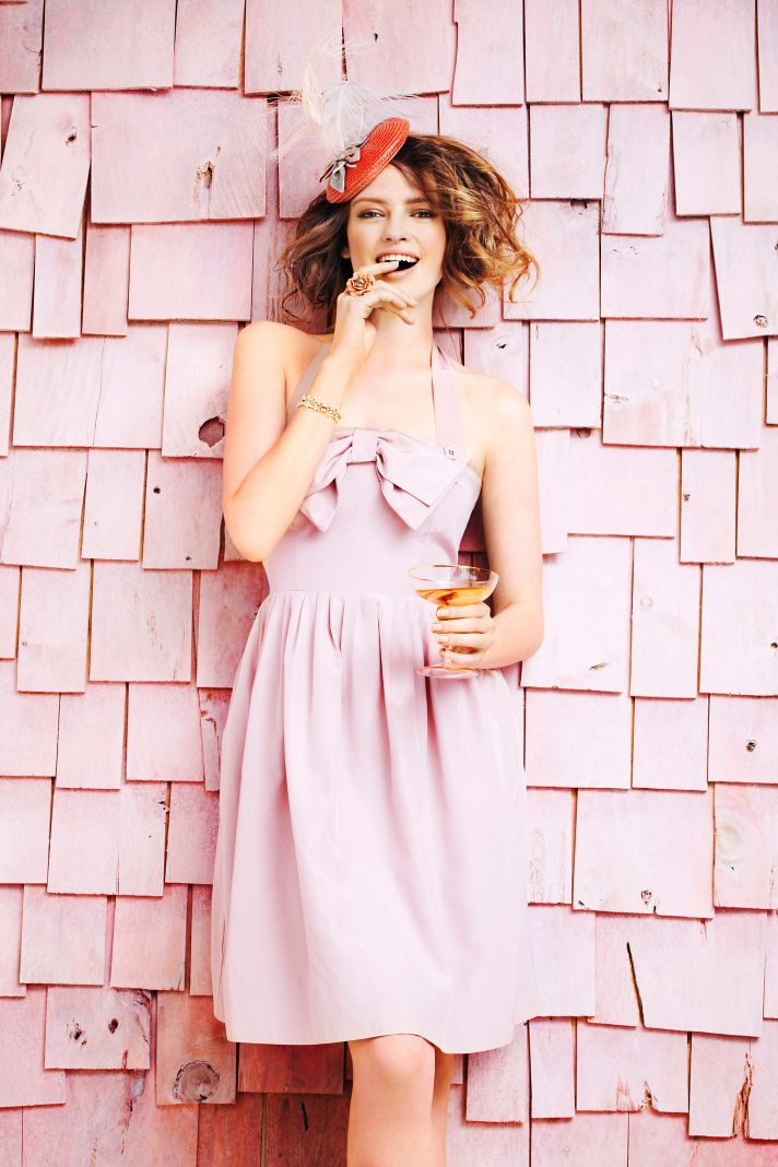blush pink bridesmaid dress bhldn