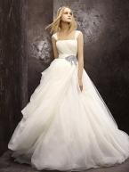 White by vera wang wedding dress style vw351112 onewed for Vera wang princess ball gown wedding dress