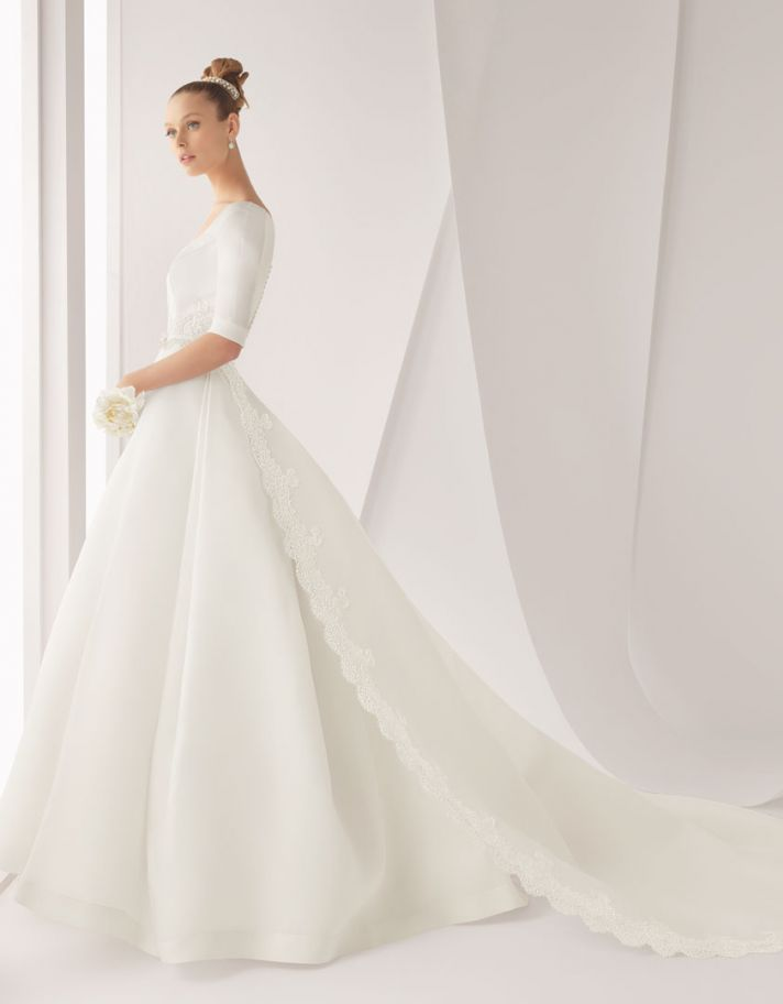 classic wedding dress for church ceremony Rosa Clara bridal gown