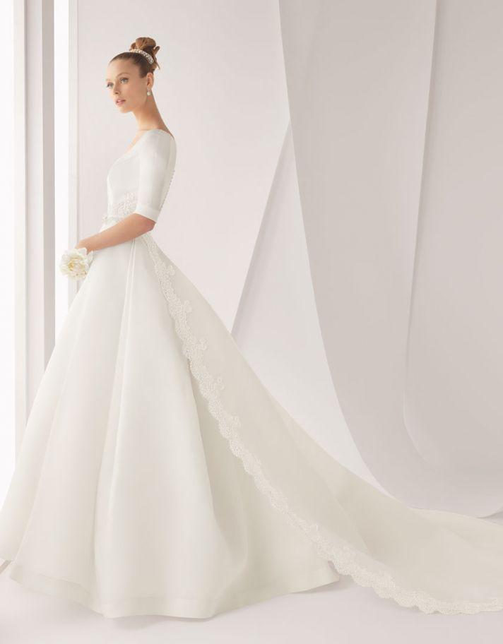classic wedding dress for church ceremony Rosa Clara bridal gown