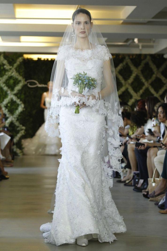 wedding dresses for traditional church ceremonies Oscar de la Renta 2013 bridal 2