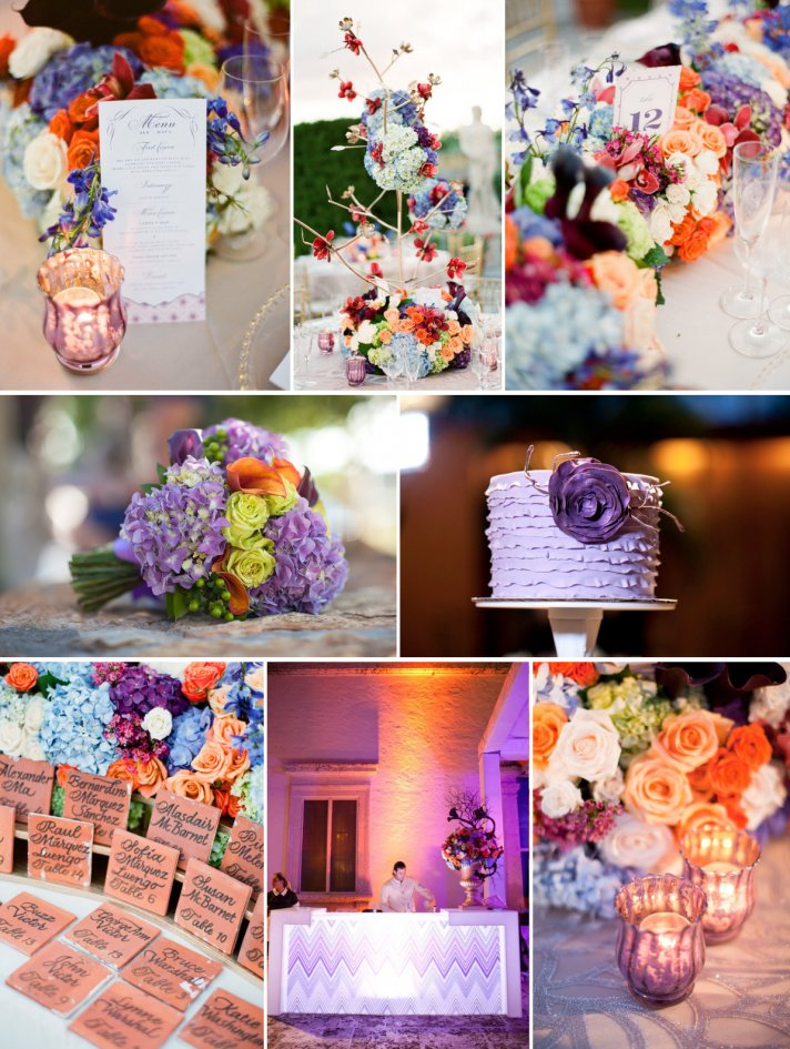 A Purple, Orange & Peachy Wedding Dream