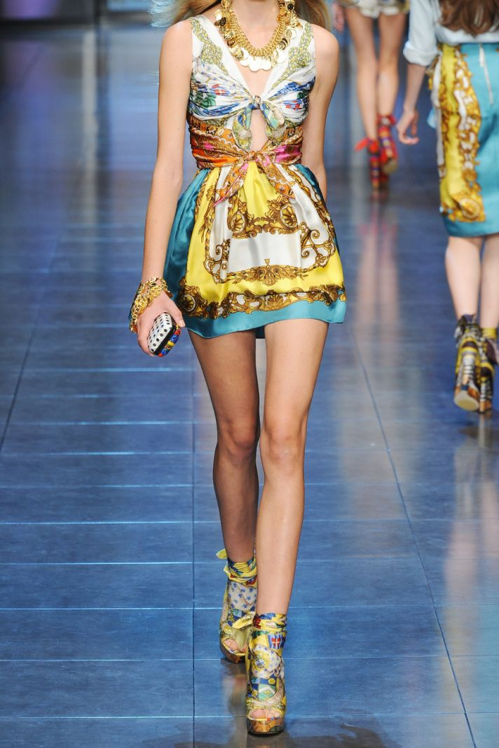 dolce gabbana printed summer dress wedding guest dressing what NOT to wear bare to clothed ratio