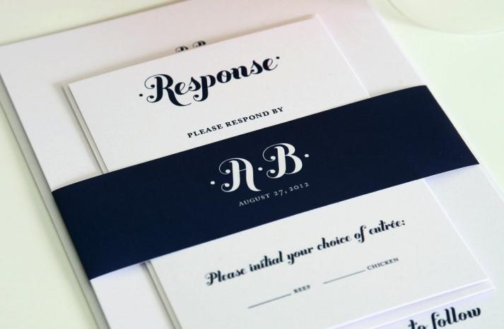 wedding color inspiration navy blue bridal wedding finds monogram invitations