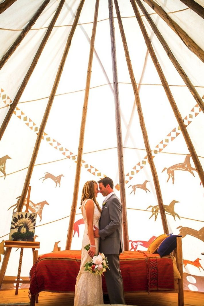 2012 wedding trends outdoor reception venues teepees not tents bride groom & Celebrity Story On The Spot: Your First Dance Beneath a Teepee?