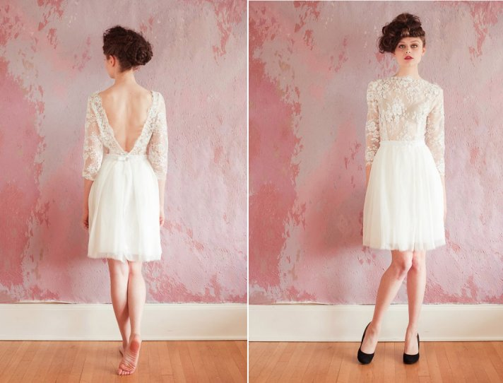 25 Lacy Little White Dresses for the Reception