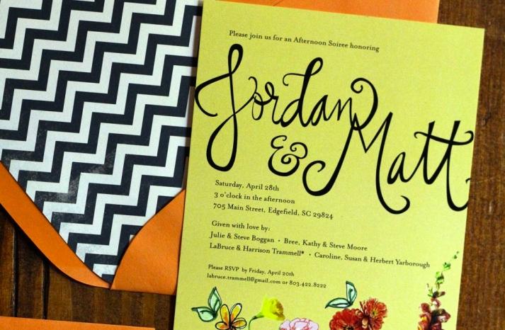 chevron wedding stationery envelope liners