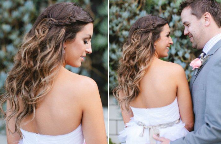 all down wedding hairstyles bridal beauty inspiration braided crown