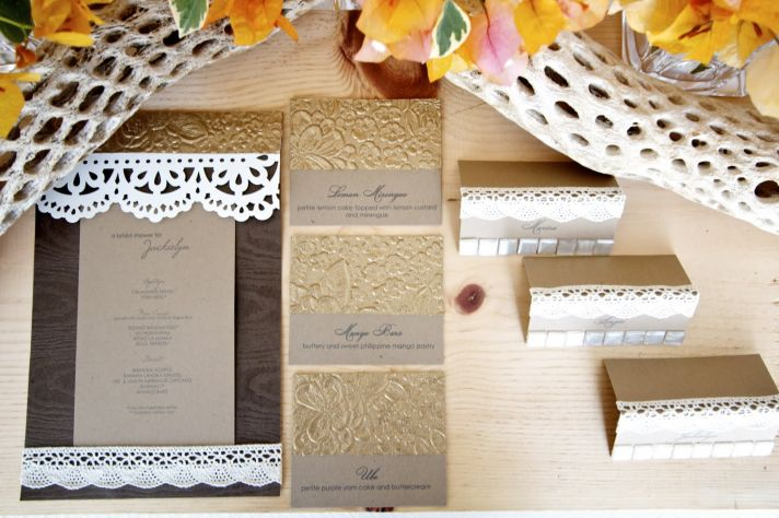 rustic luxe wedding theme lacy wedding invitations