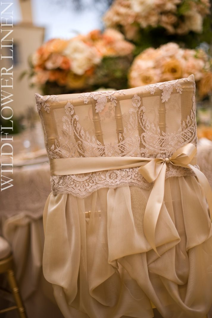 Wedding chairs worthy of the bride groom onewed for Decorating chairs for wedding reception