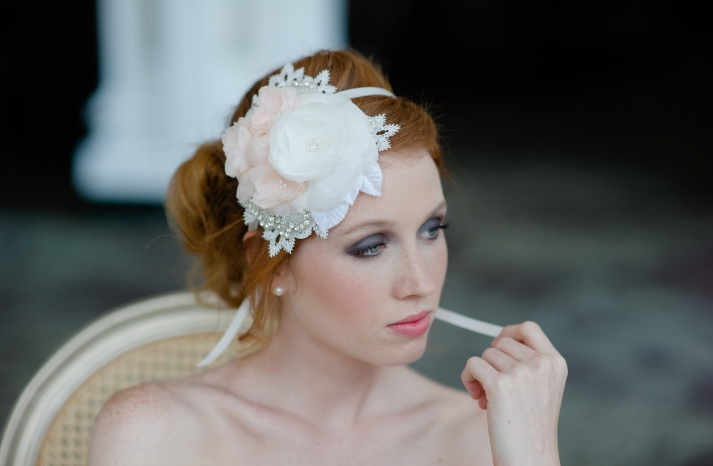 peach wedding pretties for romantic weddings bridal headband