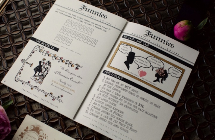 cute funny wedding invitations newspaper themed 1