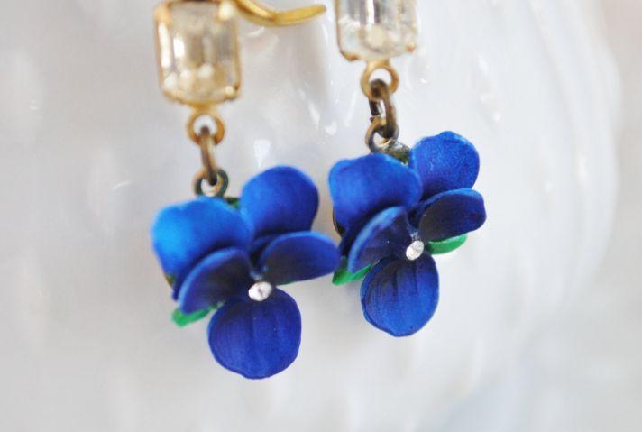 something blue bridal earrings vintage