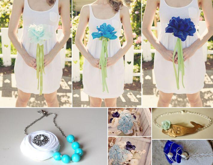 something blue wedding inspiration bridal style spotting on Etsy