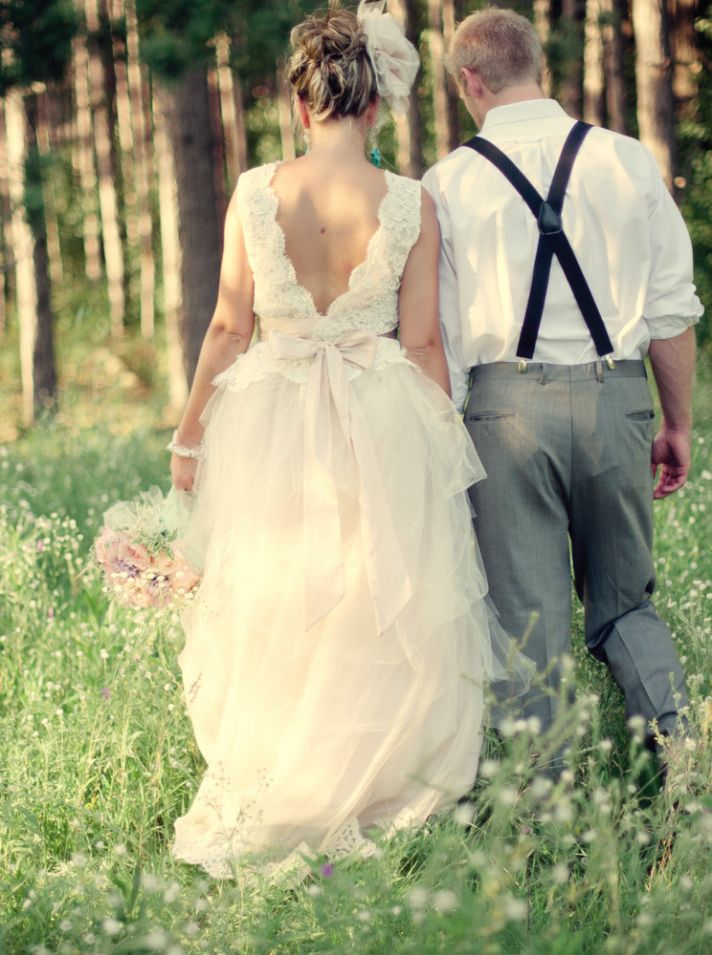 peaches and cream wedding color palette romantic weddings bride groom portrait