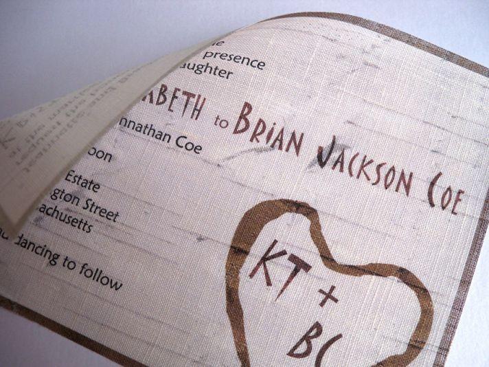 rustic wedding invitations linen