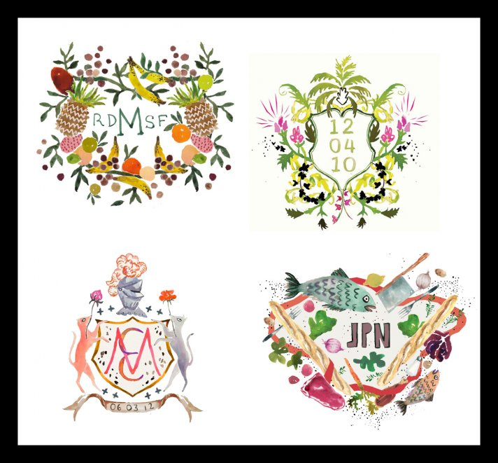 personalized wedding ideas custom heraldry artwork 3