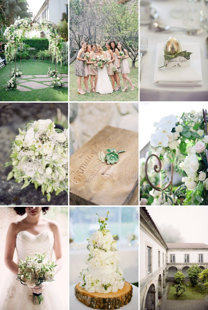 elegant wedding colors soft greens creams neutrals