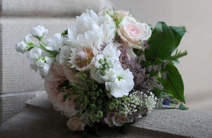 elegant real wedding North Carolina wedding photographers bridal bouquet