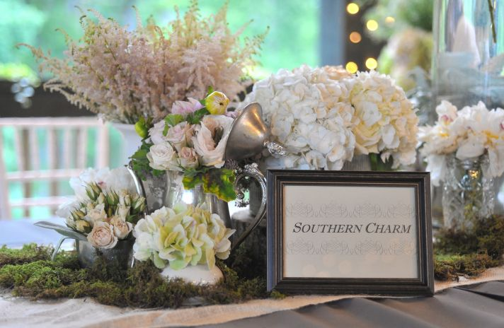 elegant real wedding North Carolina wedding photographers romantic flowers tablescape