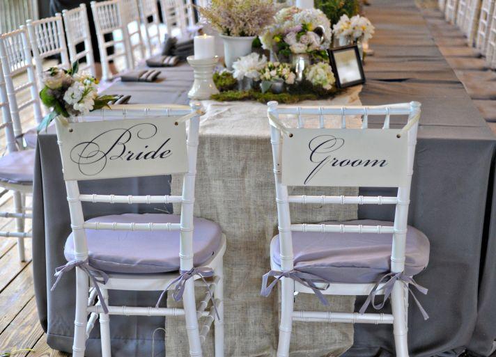 elegant real wedding North Carolina wedding photographers bride groom chairs