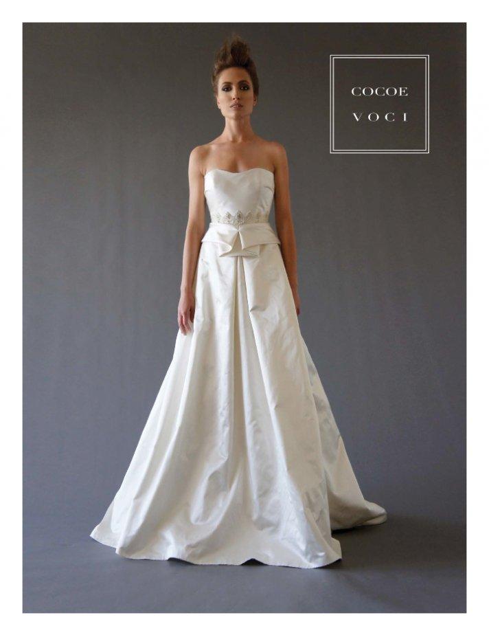 fall 2012 wedding dress Cocoe Voci bridal gowns 5
