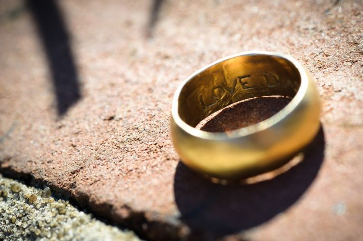wedding bands your groom will love unique wedding rings from Etsy 8