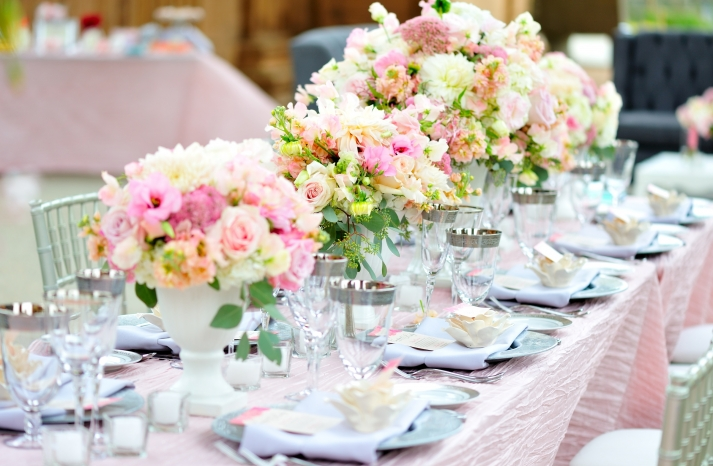 wedding details reception decor inspiration by Jerri Woolworth romantic pastels