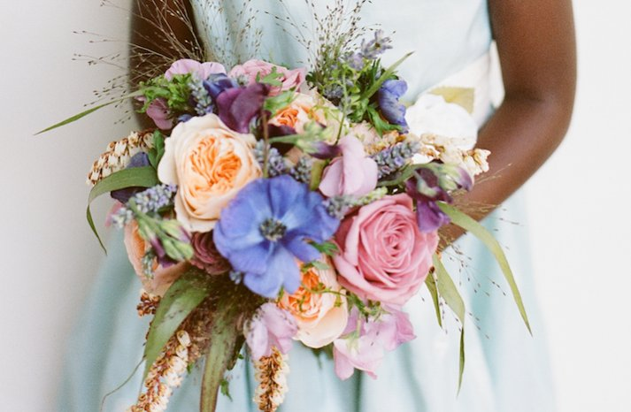 elegant weddings styled by Jerri Woolworth flower girl bouquet