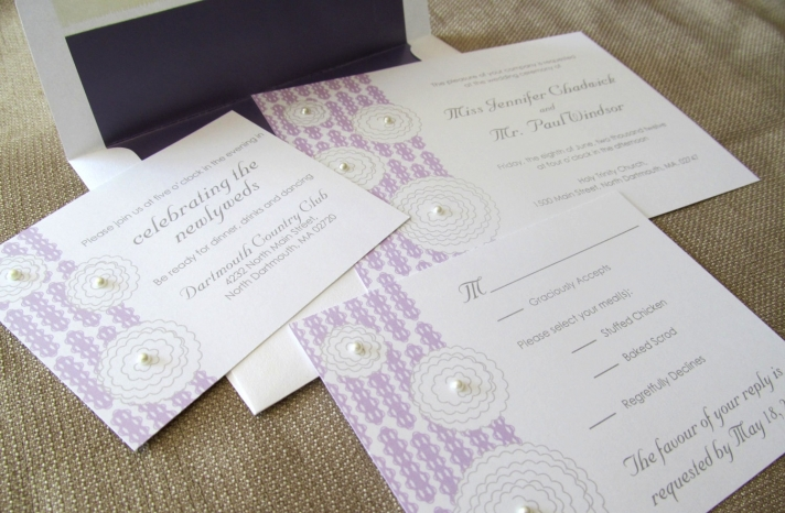 pearl wedding accessories handmade Etsy wedding finds lilac white invites