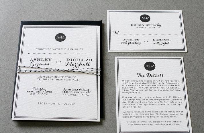 wedding invitations for modern weddings Etsy wedding finds classic black white