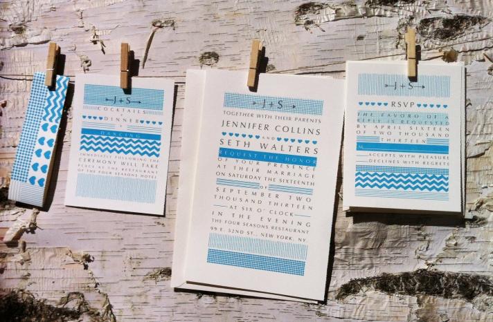 wedding invitations for modern weddings Etsy wedding finds blues