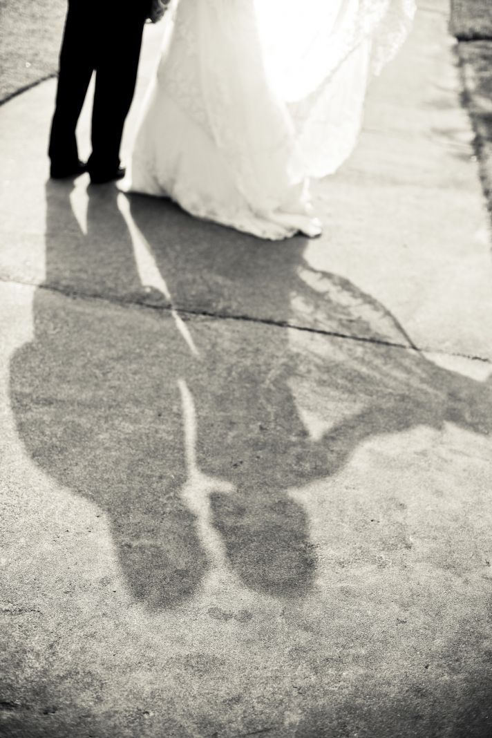 charming country club wedding bride groom shadows
