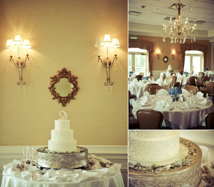 charming country club wedding in Georgia wedding cake