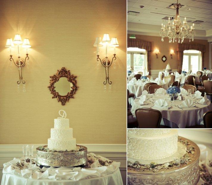 charming country club wedding in Georgia wedding cake