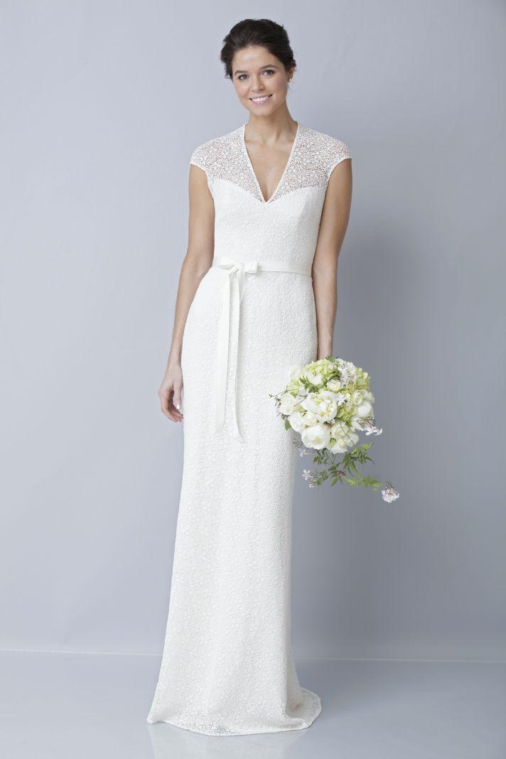 2013 wedding dress by Theia bridal gowns v neck column
