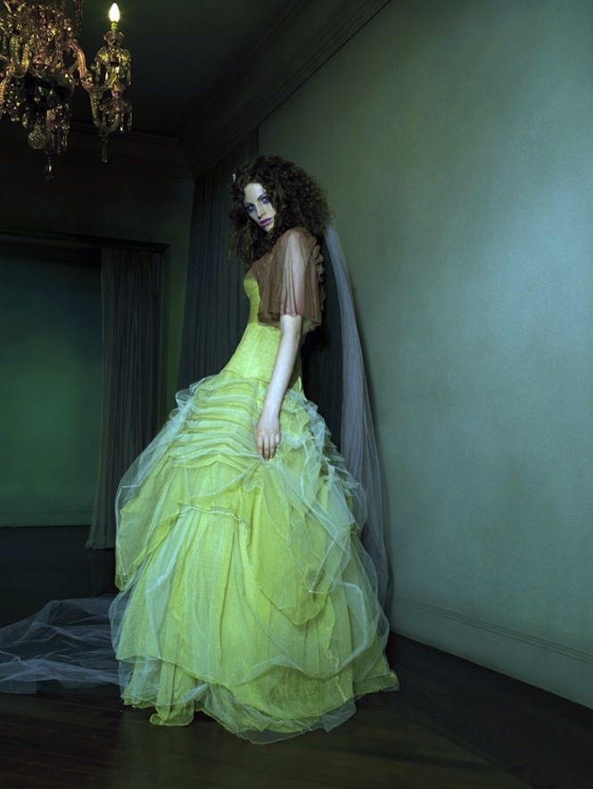 Lime Green Wedding Dress 0 Stunning colored wedding dresses muted