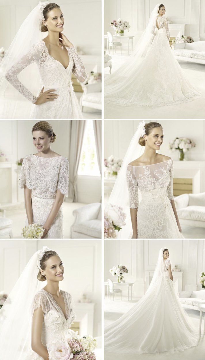 2013 wedding dresses by Elie Saab lace illusion necklines 2
