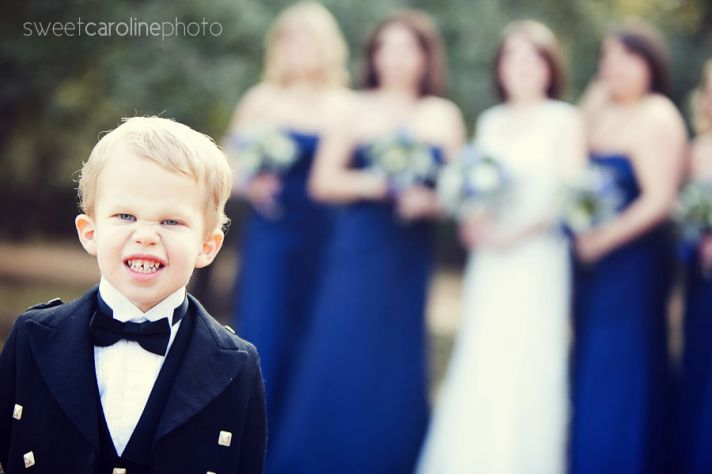 funny wedding photos escape from wedding planning stress Unforgettable Ring Bearers 1