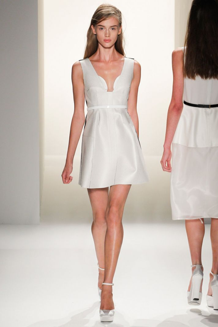 little white wedding dress inspiration from new york fashion week. Black Bedroom Furniture Sets. Home Design Ideas